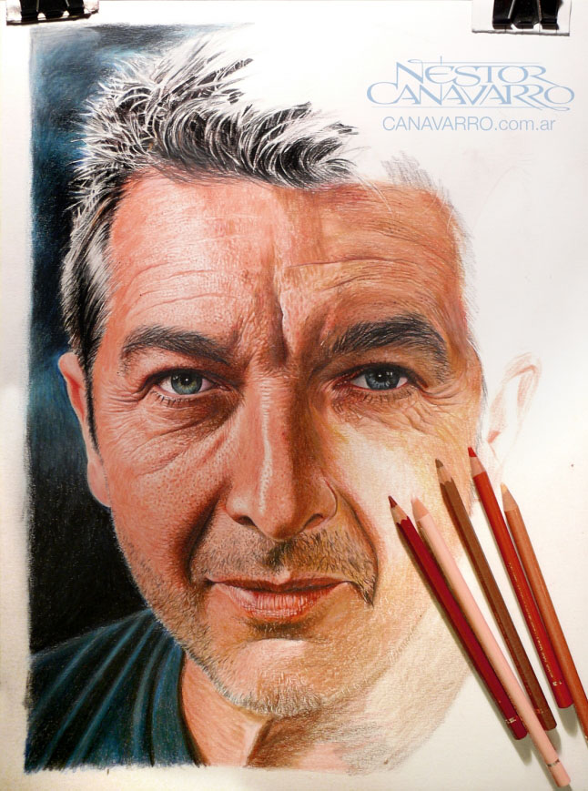 potrait color pencil drawing  by nestorcanavarro