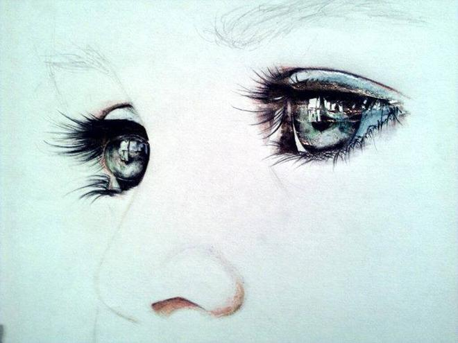 realistic eye drawing by alina kime