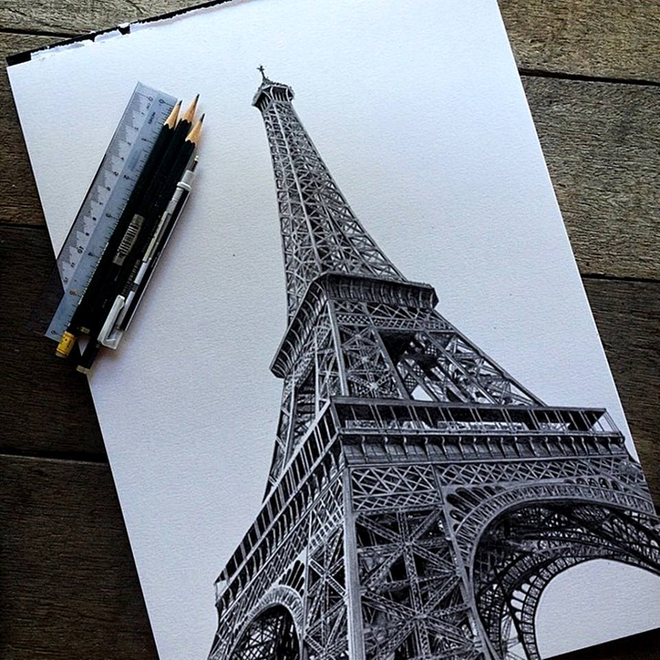 tower 3d drawing by dribblack