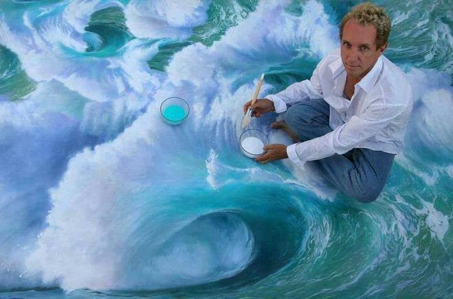 wave painting by charles