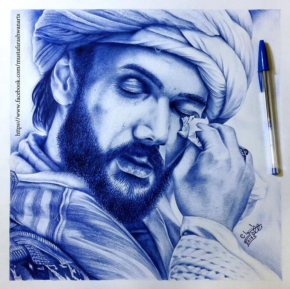 pencil drawing by mustafa rashwan