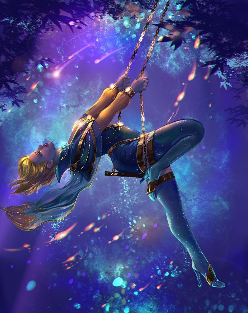 fantasy digital art swing art