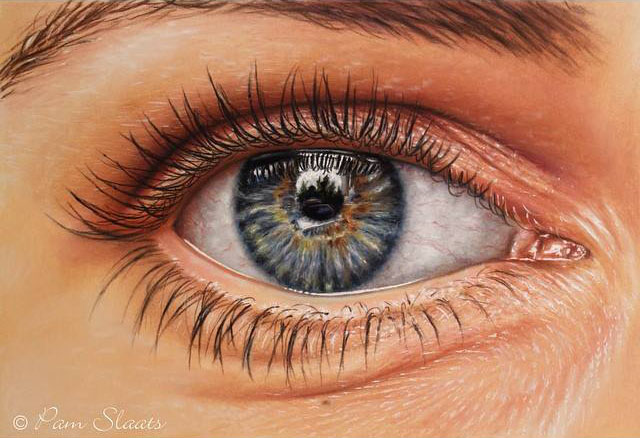 realistic eye painting by pam
