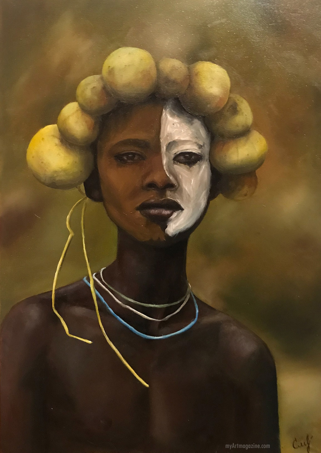 oil painting africa tribal
