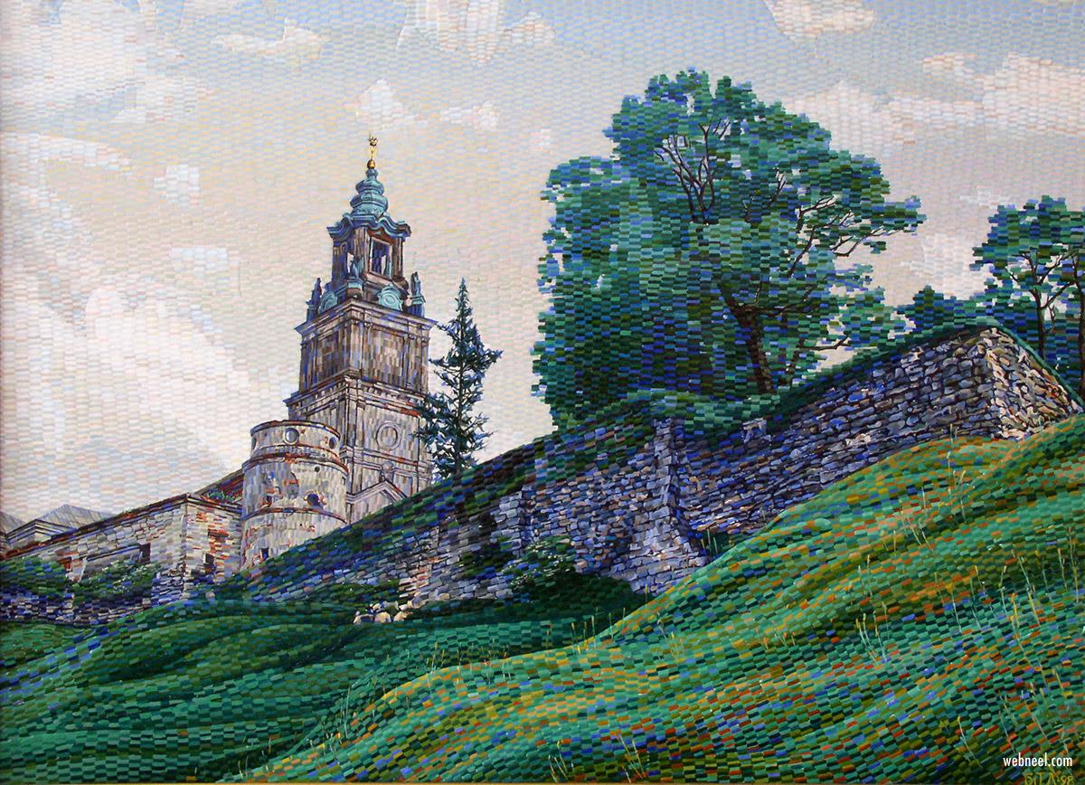 oil painting still life textured paper by taras bilyk