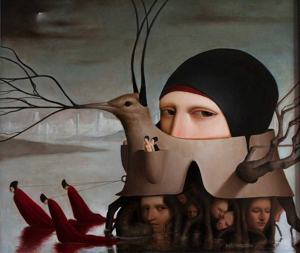oil paintings surreal by alessandro sicioldr