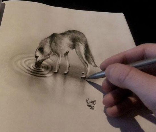realistic pencil drawing by kenn