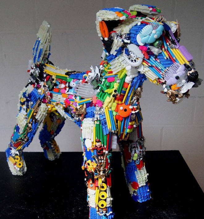 dog toys sculpture by robert