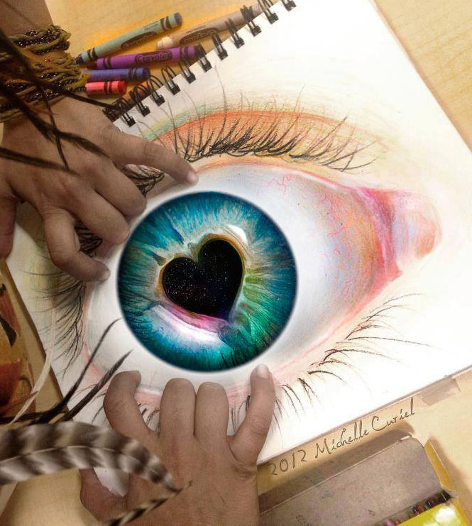 eye color pencil drawing