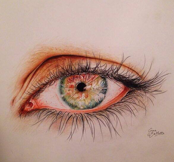 eye pencil drawing by  gioia