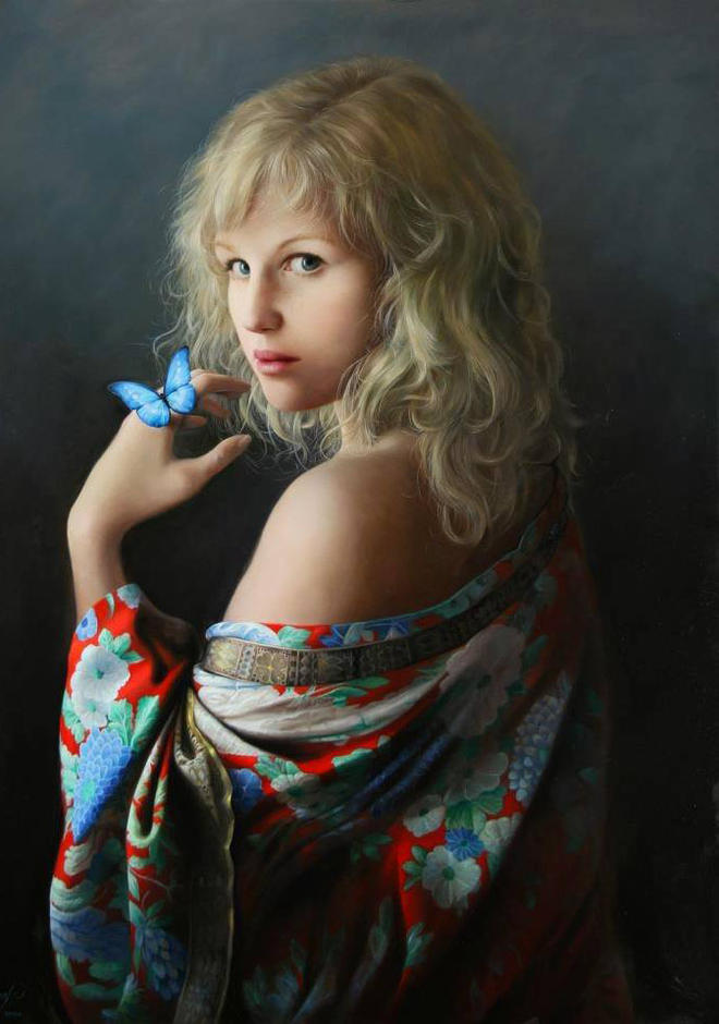 girl painting by pieter