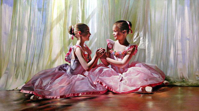 girls painting by alexander