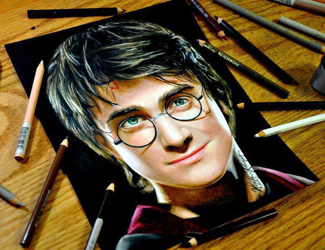 harry porter colored pencils by heather