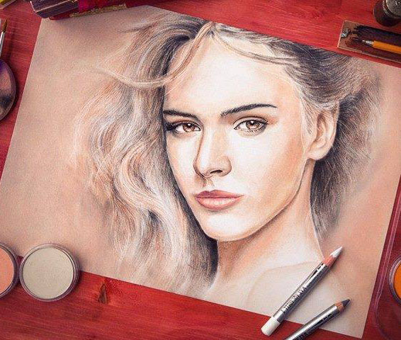 lady pencil drawing by emotionslive
