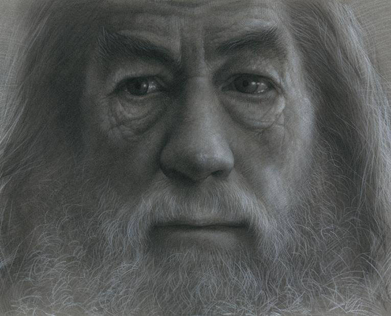 old man pencil drawing