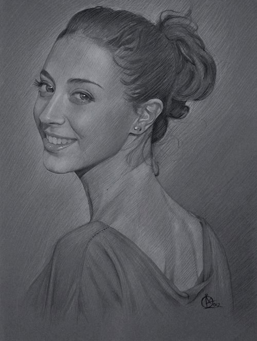 Pretty girl pencil drawing by heather