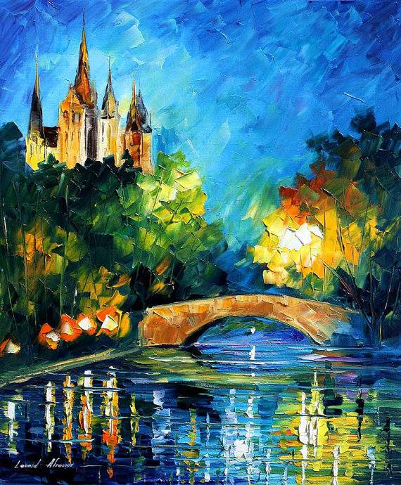 scenery water color painting by afremov