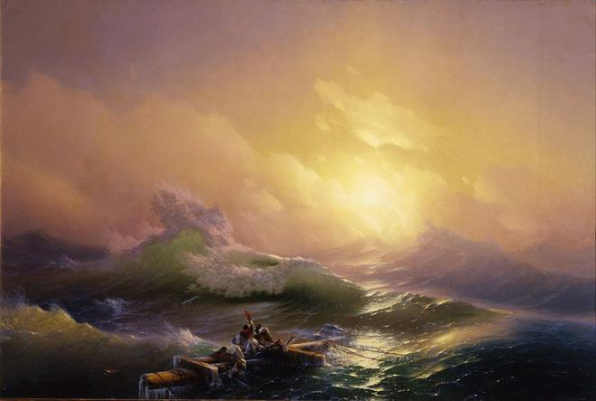 sea painting by ivan