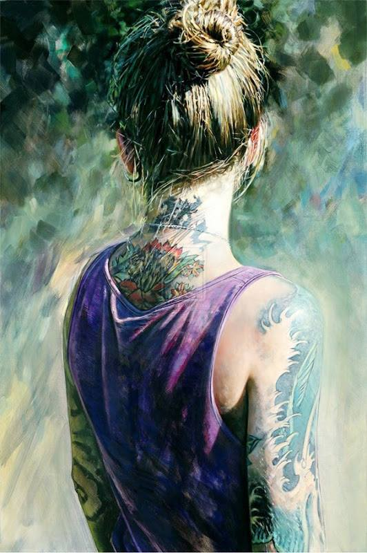 tatoo girl painting by philip