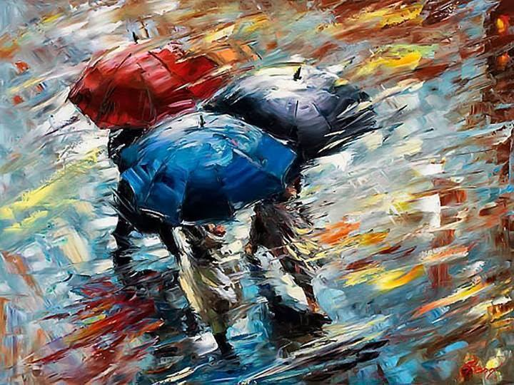 umbrella water color painting by eli