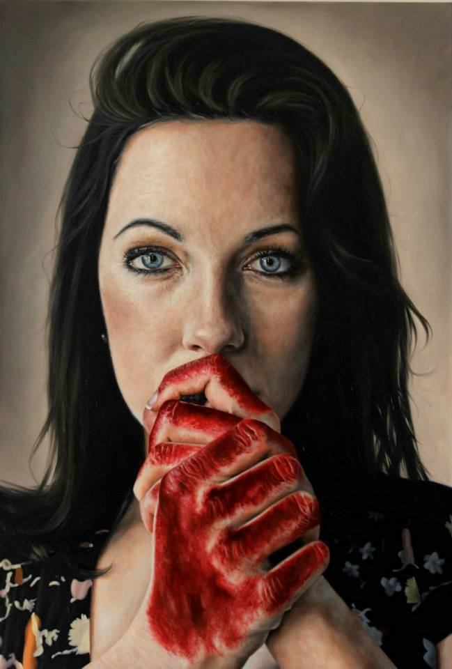 woman potrait paintings by kyle