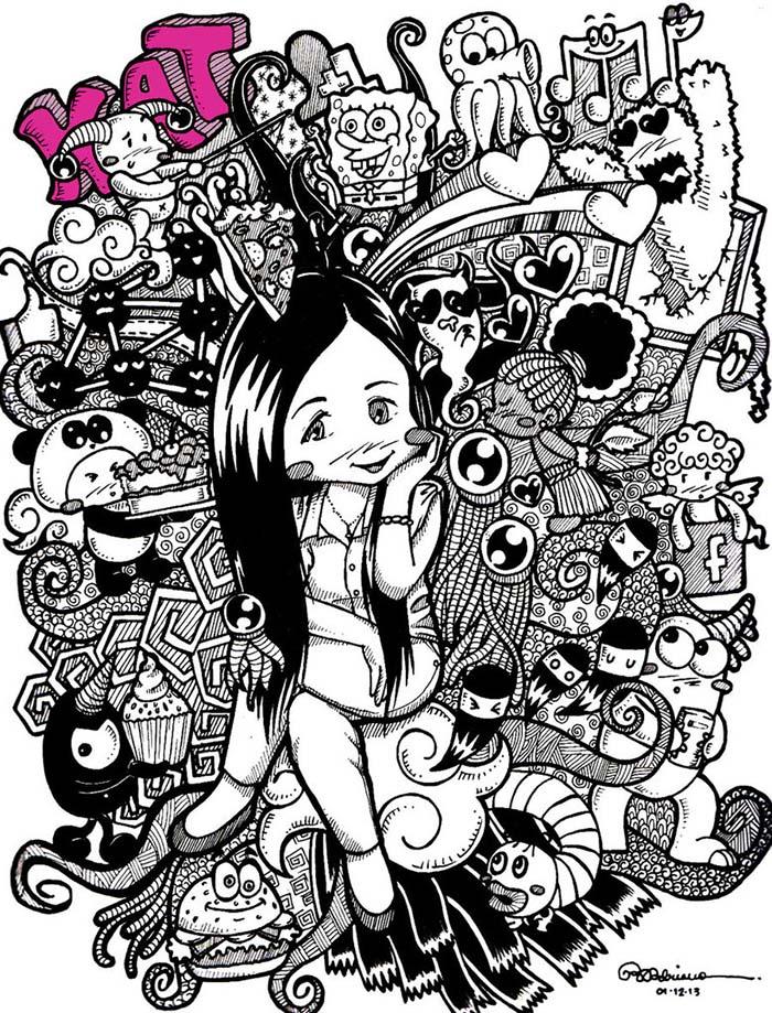 2 doodle artwork