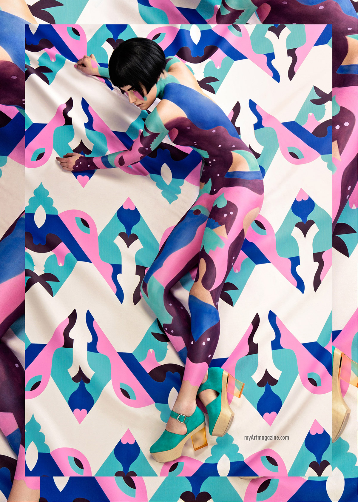body painting abstract by minna parrika