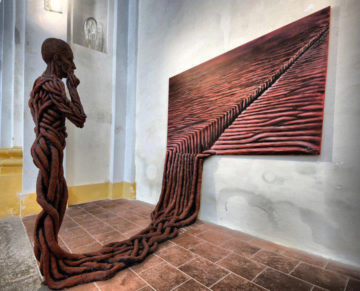 creative wall sculpture by michal trpak