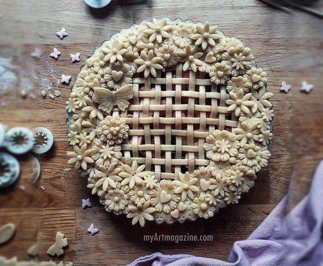 food art idea pie