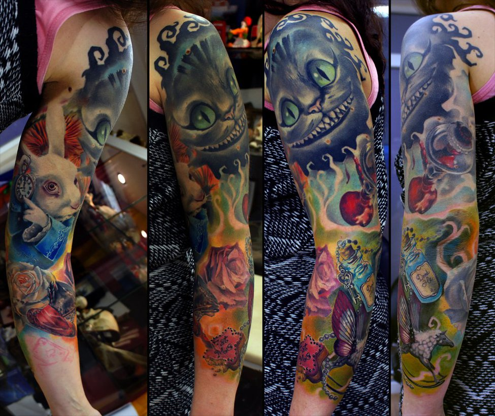 tattoos for men alice artwork by grimmy