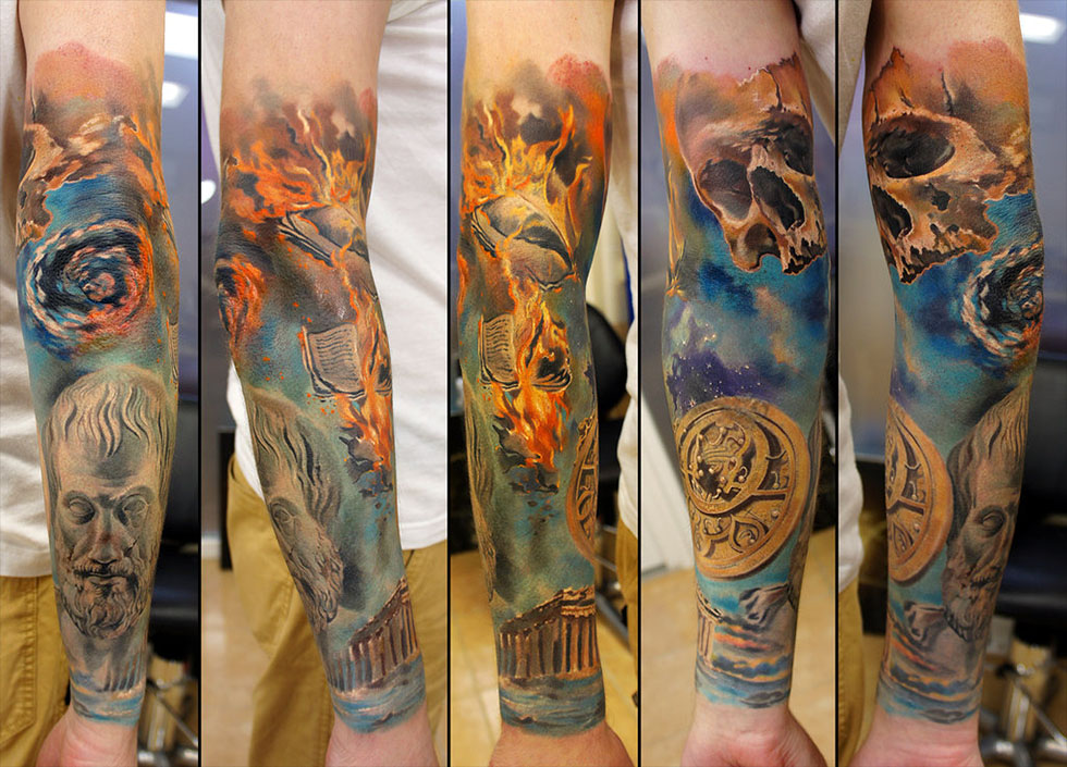 tattoos for men flames artwork by grimmy
