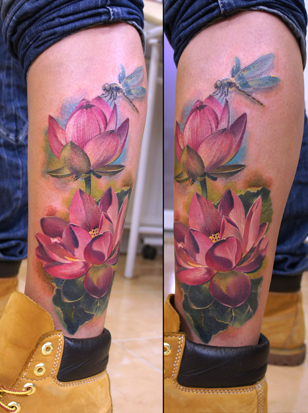 tattoos for men lotus artwork by grimmy
