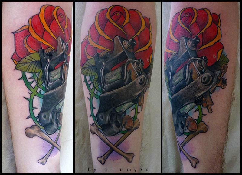 tattoos for men weinerdog artwork by grimmy