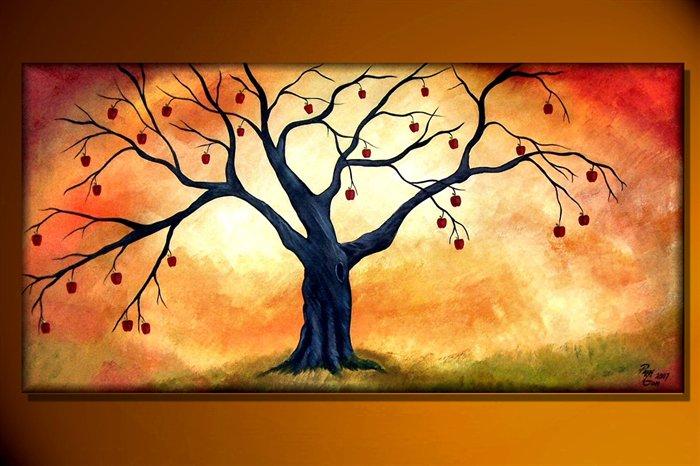 tree painting apple tree