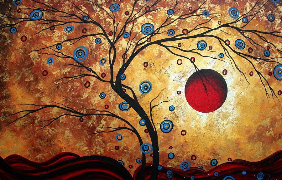 tree painting abstract art by megan