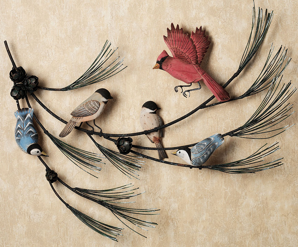wall sculpture birds
