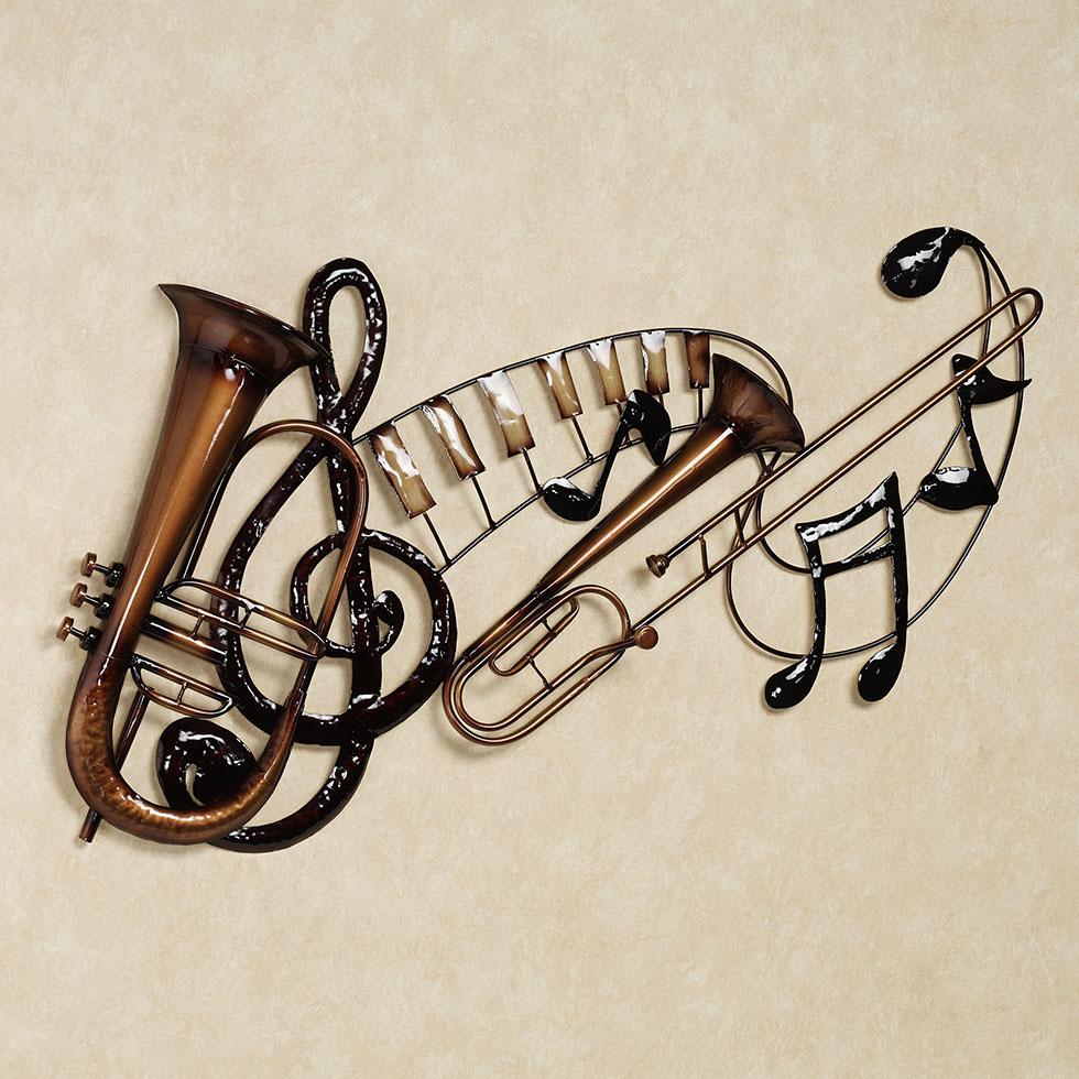 wall sculpture trumpet