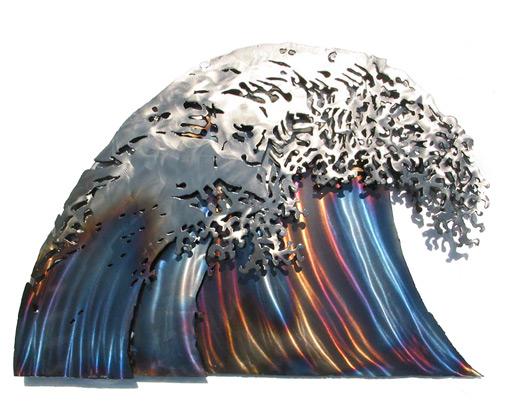 wall sculpture wave