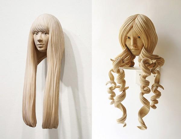 wall sculpture woman