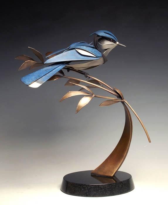 bird metal sculpture