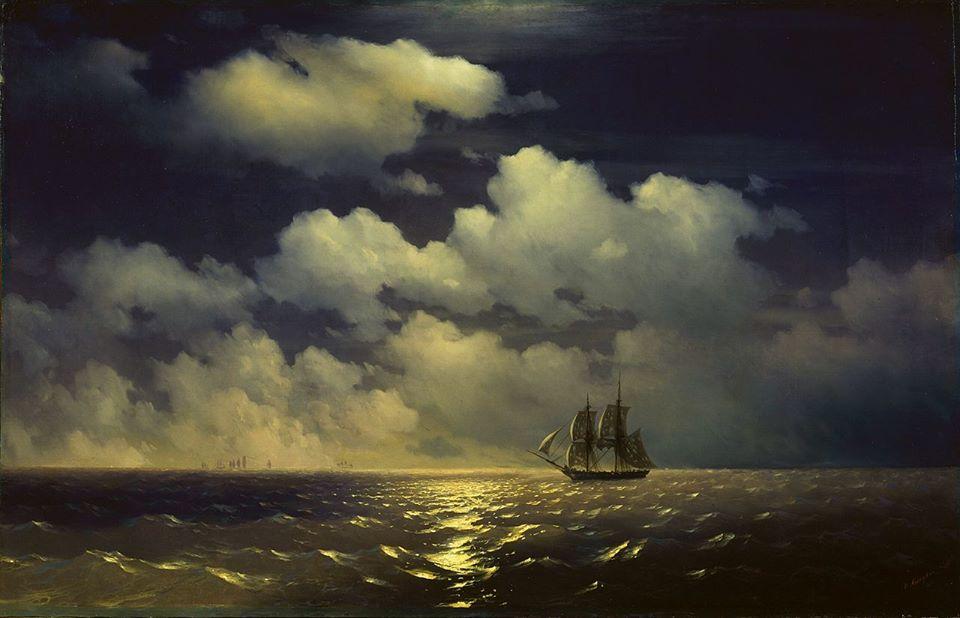 boat oil paintings by ivan