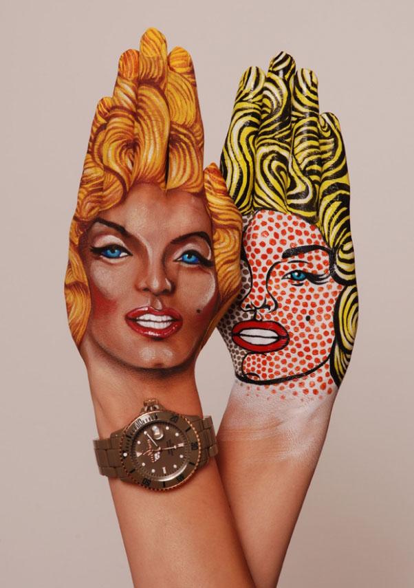 body art hand