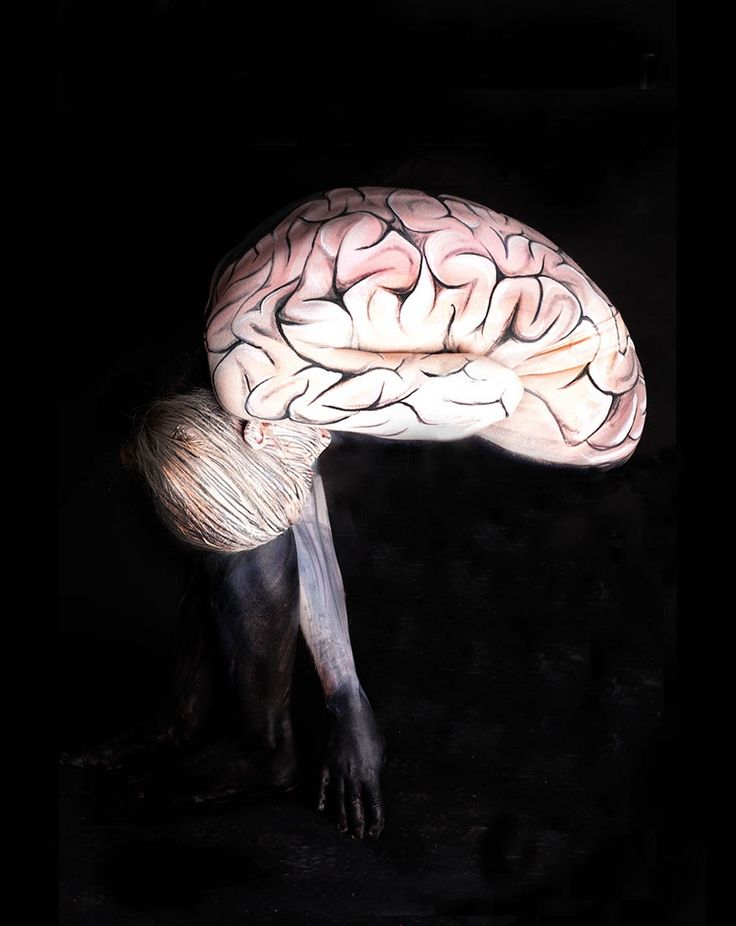 brain body paintings