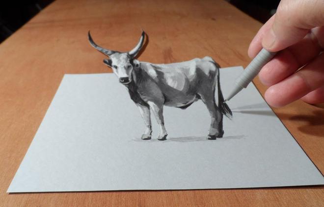 bull 3d drawings
