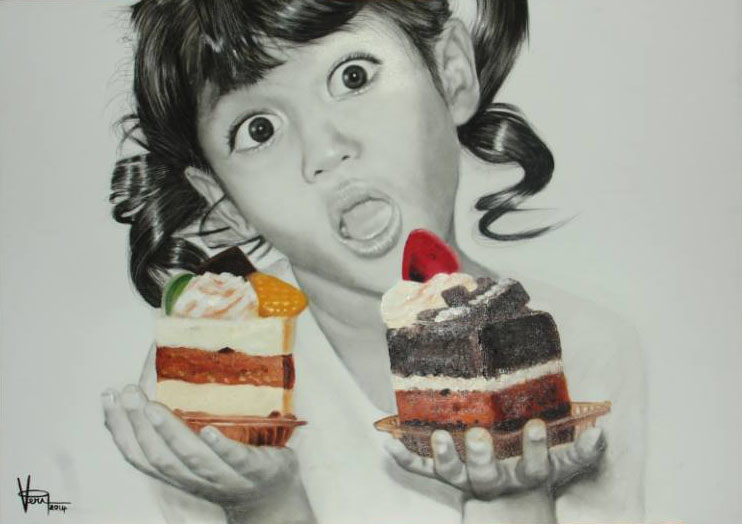 cake pencil drawings by veri