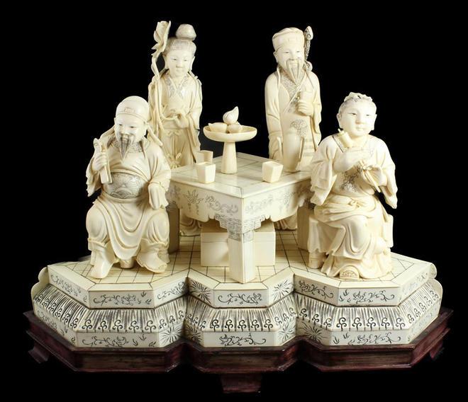 Cross ivory sculptures image