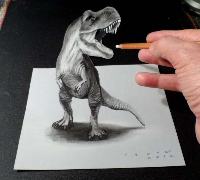 dinosaurs 3d drawings