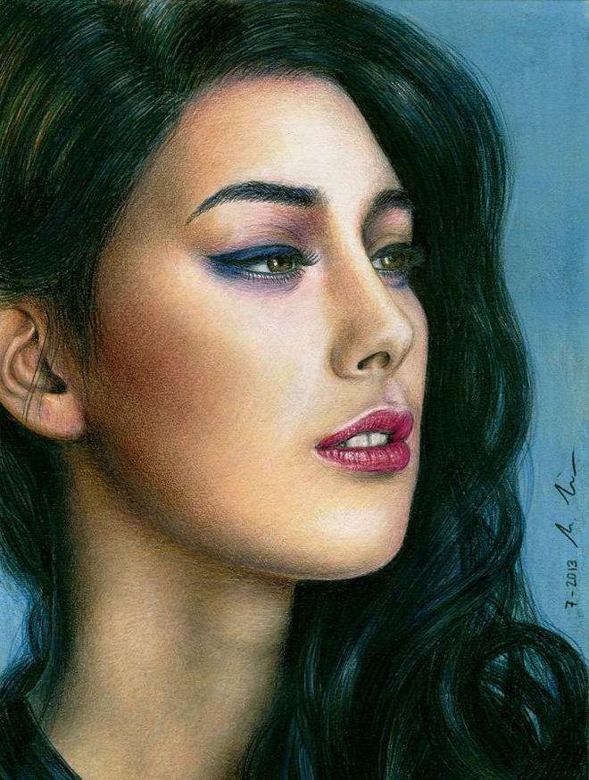 elif color pencil drawings by lman