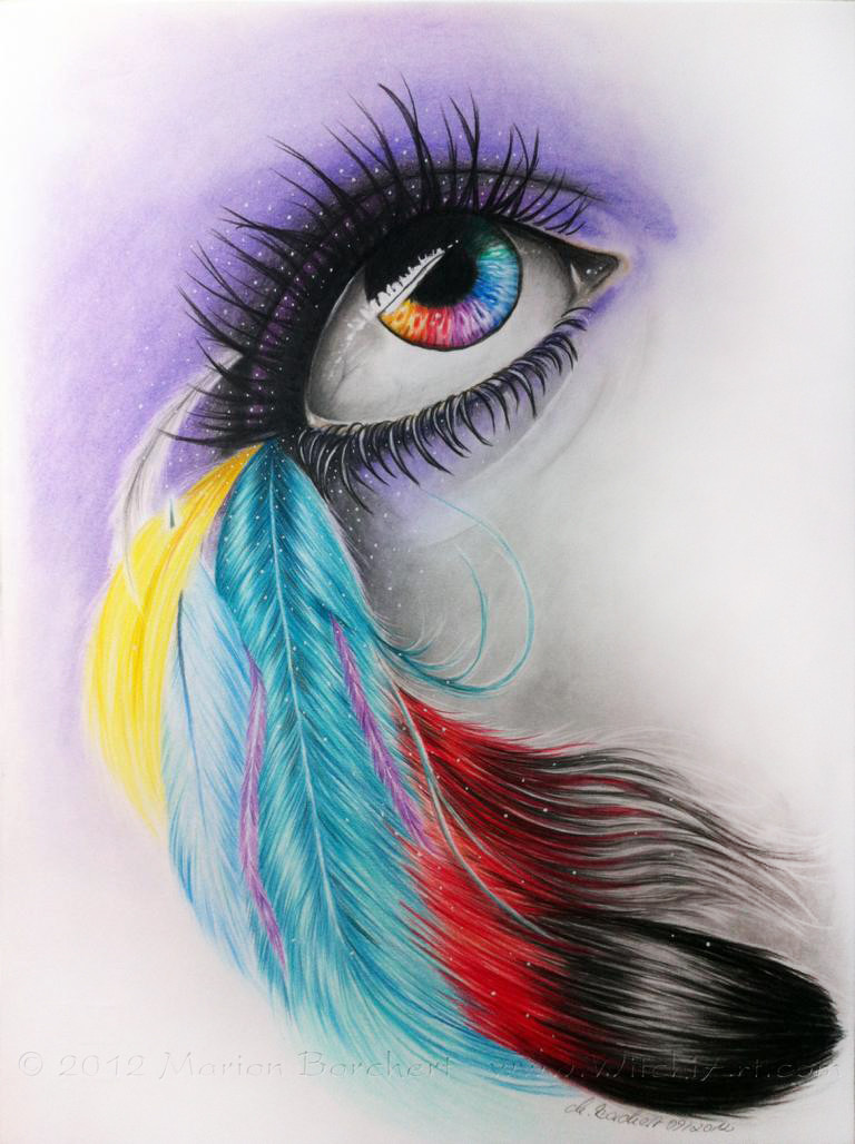 eye color pencil drawings | Image