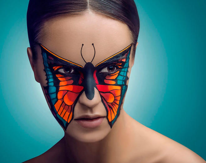 face painting photo by krzysztof